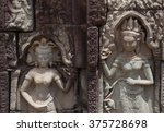carving at angkor thom showing... | Shutterstock . vector #375728698