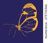 beautiful silhouette butterfly... | Shutterstock .eps vector #375733366