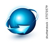 abstract design  blue sphere...