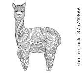 Alpaca Zentangle Design For...
