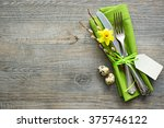easter table setting with... | Shutterstock . vector #375746122