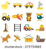 baby toys icons set | Shutterstock .eps vector #375754885