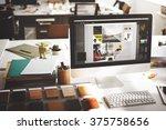 design studio creativity ideas... | Shutterstock . vector #375758656