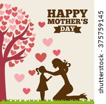 happy mothers day | Shutterstock .eps vector #375759145