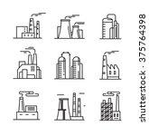 vector black flat factory icons ...   Shutterstock .eps vector #375764398