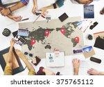 business travel meeting... | Shutterstock . vector #375765112