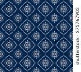 blue and white ornamental... | Shutterstock .eps vector #375767902