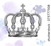 crown. hand drawn vector... | Shutterstock .eps vector #375777508