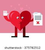 heart character holding...   Shutterstock .eps vector #375782512