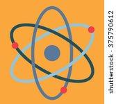 atom in flat design | Shutterstock .eps vector #375790612