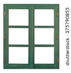 Old Wooden Window With Six Pane