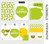 set of colorful cards  labels... | Shutterstock .eps vector #375808276