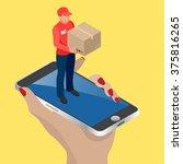 e commerce concept. pay online... | Shutterstock .eps vector #375816265