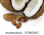 Almond with cocos - stock photo