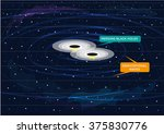 two black holes merging and... | Shutterstock .eps vector #375830776