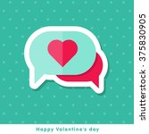 happy valentine day icon in... | Shutterstock .eps vector #375830905