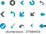 Vector icons pack - Blue Series, arrows collection - stock vector