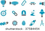 vector icons pack   blue series ... | Shutterstock .eps vector #37584454