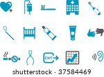 Vector icons pack - Blue Series, health collection - stock vector