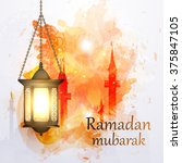 vector illustration ramadan... | Shutterstock .eps vector #375847105