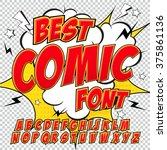 creative high detail comic font.... | Shutterstock .eps vector #375861136