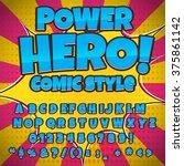 creative high detail comic font.... | Shutterstock .eps vector #375861142