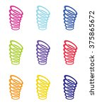 colorful vector spring set | Shutterstock .eps vector #375865672