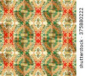 ethnic seamless pattern with... | Shutterstock . vector #375880222