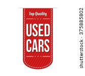used cars banner design over a... | Shutterstock .eps vector #375885802