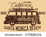 surf bus california santa... | Shutterstock .eps vector #375888256