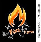 fire icon | Shutterstock .eps vector #375888388