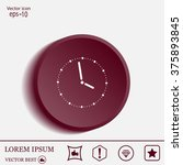 vector clock illustration | Shutterstock .eps vector #375893845