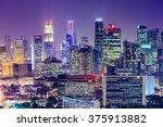 singapore financial district... | Shutterstock . vector #375913882