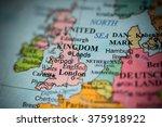 map view of leeds  uk on a... | Shutterstock . vector #375918922
