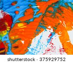 wave effect colorful of arts... | Shutterstock . vector #375929752