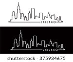chicago skyline contemporary | Shutterstock .eps vector #375934675