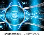dark blue color light abstract... | Shutterstock .eps vector #375943978