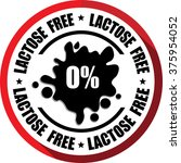 0  lactose free red  button ... | Shutterstock . vector #375954052