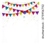 birthday bunting flags with... | Shutterstock . vector #375956752