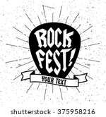 vintage style rock festival...