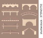 set of bridges made in vector....   Shutterstock .eps vector #375965752