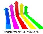 3d arrows concept   teamwork. | Shutterstock . vector #375968578