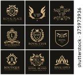 luxury logo set design for... | Shutterstock .eps vector #375973936