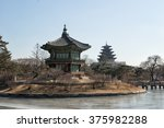 hyangwonjeong pavilion in... | Shutterstock . vector #375982288