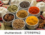 spice for the indian curry | Shutterstock . vector #375989962