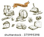 natural cheese sketches | Shutterstock .eps vector #375995398