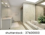 master bath with step up tub | Shutterstock . vector #37600003