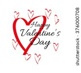 happy valentine's day greeting... | Shutterstock .eps vector #376000708