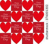 happy valentine's day greeting... | Shutterstock .eps vector #376001302