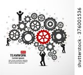 teamwork graphic vector design | Shutterstock .eps vector #376001536